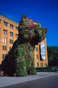 Koons Puppy outside the MCA 1996