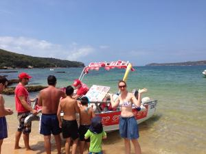 The floating Ice Cream boat