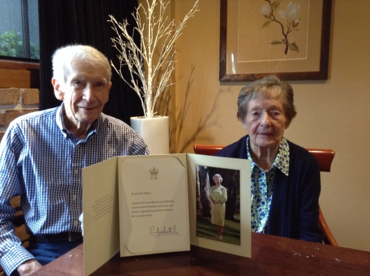 Celebrating 70 years of marriage with a letter from the QUEEN!!