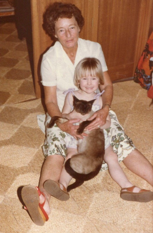 Nan and I ( with Albert the cat)