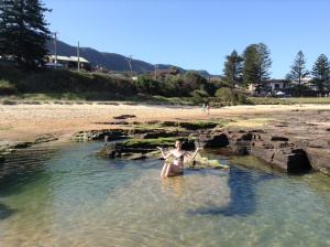 Me in Natures Infinity Pool, Little Austi Beach