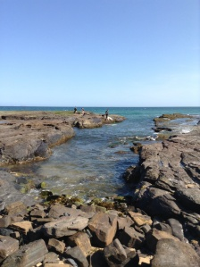 A more permanent swimming hole at Little Austi, known by locals as ' The Gutter'