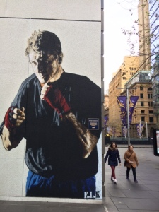 Fighting Father Dave Smith, Martin Place, Sydney