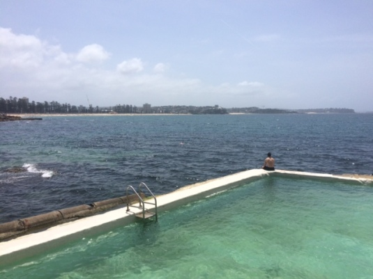 Fairy Bower Pool, looking north towards Manly
